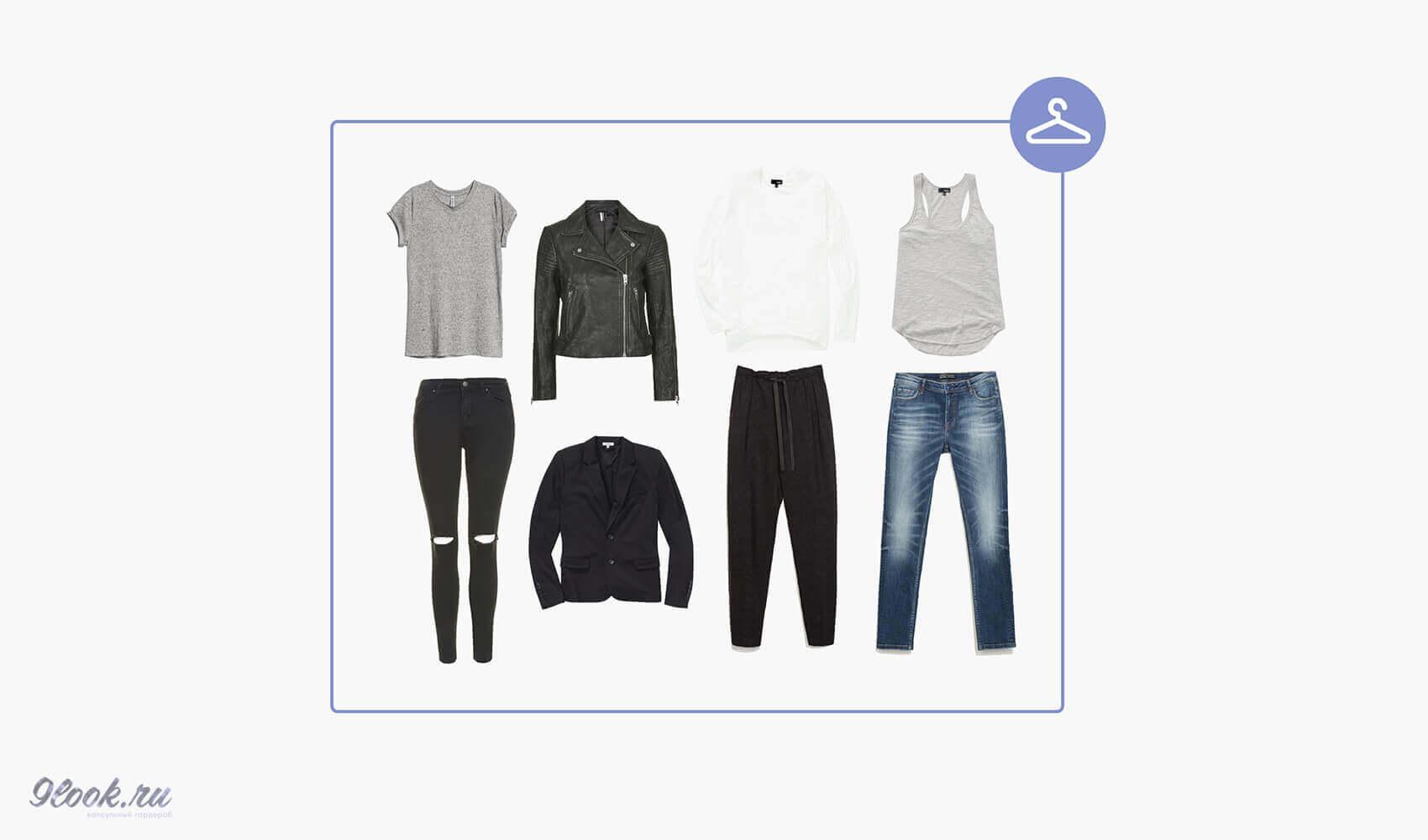 Схема минимального гардероба