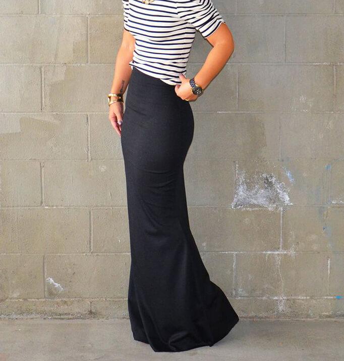 очень длинная юбка