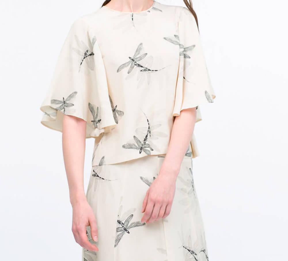 рисунок стрекоз на платье