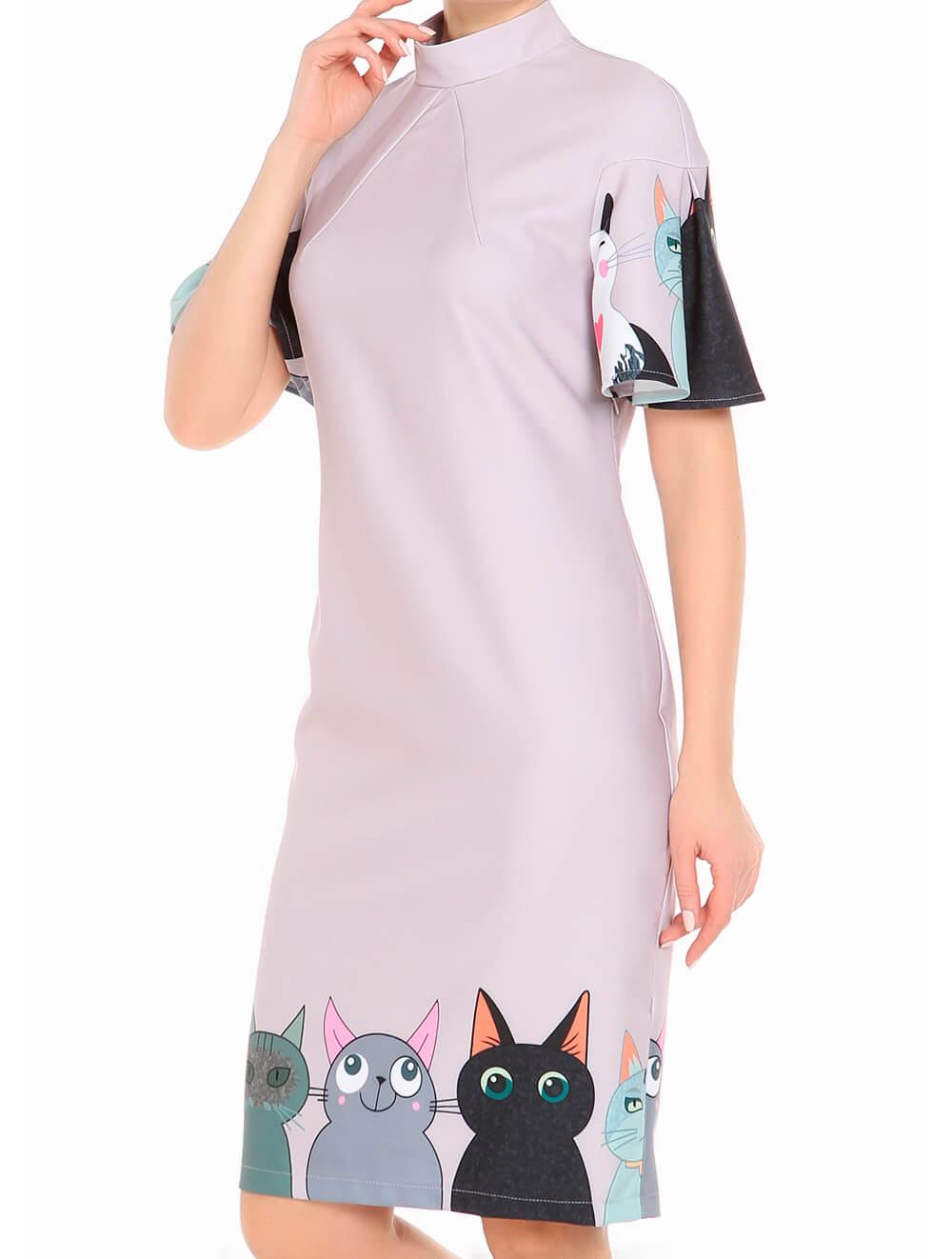 платье с мультяшными котятами