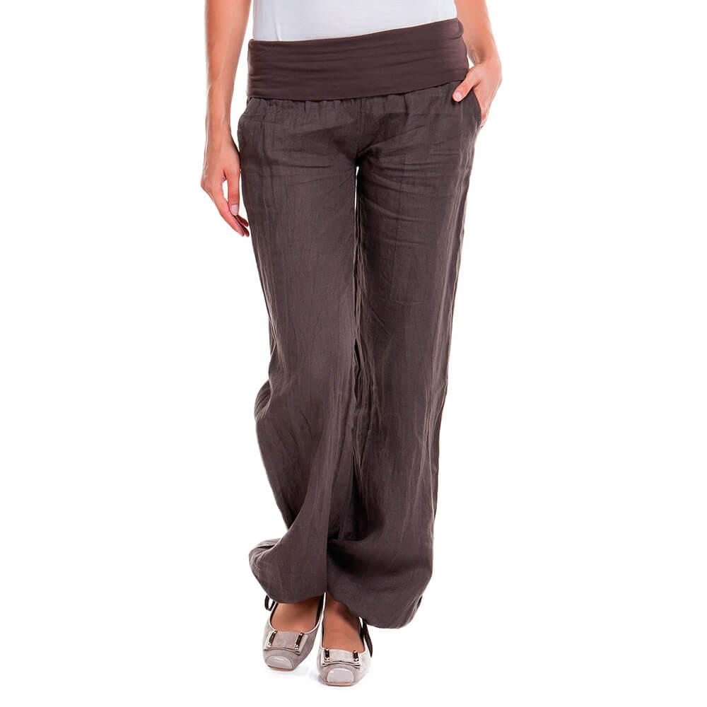 свободные брюки на резинках