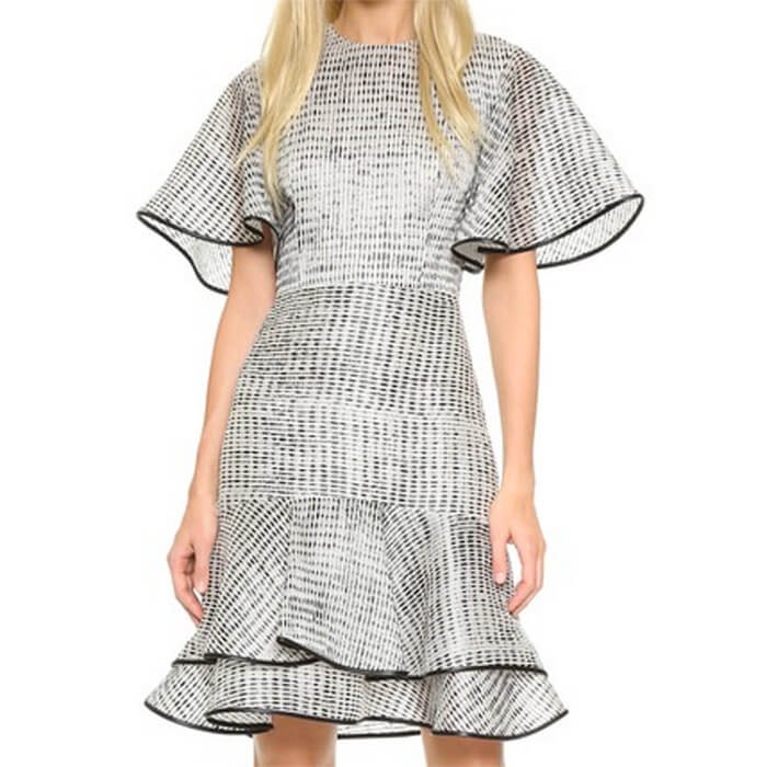 пример платья с кроем по косой