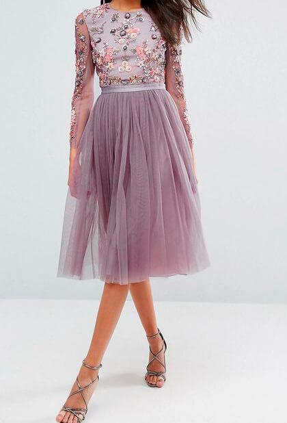 романтическое платье в сиреневых тонах